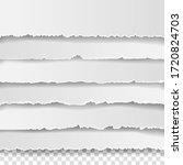 set of torn white note ... | Shutterstock .eps vector #1720824703