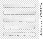 set of torn white note ... | Shutterstock .eps vector #1720824706