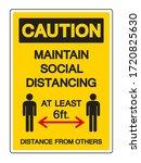 caution maintain social... | Shutterstock .eps vector #1720825630