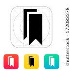 bookmarks icon. vector...