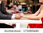 couple in love holding hands... | Shutterstock . vector #172083680