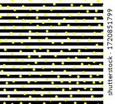 yellow dots on black and white... | Shutterstock .eps vector #1720851799