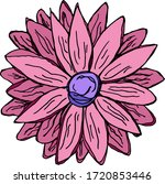 cute hand drawn floral elements.... | Shutterstock .eps vector #1720853446