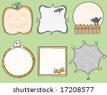 halloween frames | Shutterstock .eps vector #17208577