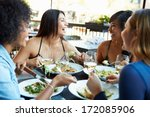 group of female friends... | Shutterstock . vector #172085906