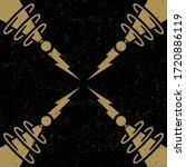 futuristic retro science... | Shutterstock .eps vector #1720886119