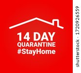 14 day quarantine campaign or... | Shutterstock .eps vector #1720926559