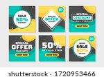 sale post collection set vector | Shutterstock .eps vector #1720953466