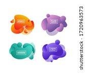 set of vector abstract liquid...   Shutterstock .eps vector #1720963573