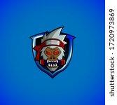ninja yeti logo gaming. mix... | Shutterstock .eps vector #1720973869