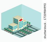 isometric hospital   simple... | Shutterstock .eps vector #1720984993