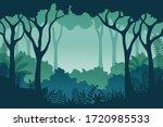 jungle landscape background in...   Shutterstock .eps vector #1720985533