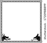 square medieval frame with... | Shutterstock .eps vector #1720988899