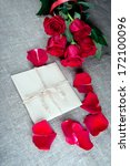 bouquet of red roses and a... | Shutterstock . vector #172100096