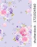 beautiful seamless spring...   Shutterstock . vector #1721024560