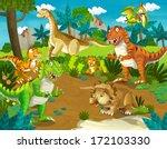 the dinosaur land  ... | Shutterstock . vector #172103330