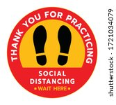 thanks for practicing social... | Shutterstock .eps vector #1721034079