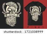 soldier gladiator art. italian... | Shutterstock .eps vector #1721038999