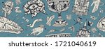 medieval. seamless pattern.... | Shutterstock .eps vector #1721040619