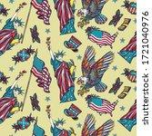 usa patriotic seamless pattern. ...   Shutterstock .eps vector #1721040976