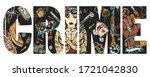crime slogan. chicano art.... | Shutterstock .eps vector #1721042830