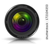 camera photo lens   isolated on ... | Shutterstock .eps vector #172104353