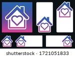 dark blue colors heart inside... | Shutterstock .eps vector #1721051833