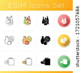 retail products icons set. hot... | Shutterstock .eps vector #1721057686