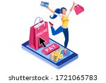 application for pay  discount... | Shutterstock .eps vector #1721065783