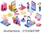 application for pay  discount... | Shutterstock .eps vector #1721065789