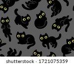 cute cartoon cat seamless... | Shutterstock . vector #1721075359