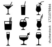 cocktail set icon  logo...   Shutterstock .eps vector #1721078866