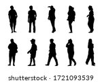 silhouette lifestyle people on... | Shutterstock .eps vector #1721093539