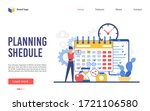 planning schedule vector... | Shutterstock .eps vector #1721106580
