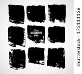 grunge ink hand drawn squares | Shutterstock .eps vector #172111136