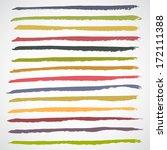brush strokes   set   isolated... | Shutterstock .eps vector #172111388