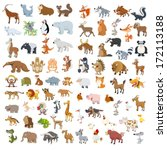 extra big vector animals and... | Shutterstock .eps vector #172113188