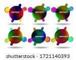 abstract modern badge template... | Shutterstock .eps vector #1721140393