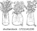 vector illustration of floral... | Shutterstock .eps vector #1721141230