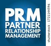 prm   partner relationship...   Shutterstock .eps vector #1721144596