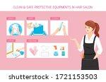 female hairdresser with... | Shutterstock .eps vector #1721153503