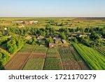 Drone View Of Rural Buildings...