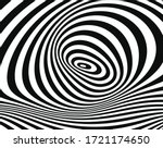line art optical art.... | Shutterstock .eps vector #1721174650