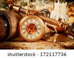 Stock photo vintage antique pocket watch 172117736