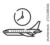flight time black line icon....