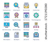 web and seo filled line icons   ...   Shutterstock .eps vector #1721190280