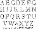 flower alphabet. vector... | Shutterstock .eps vector #1721210956