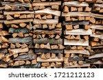 Stack Of Split Firewood...
