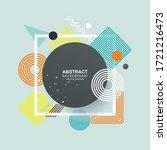 abstract vecto template design...   Shutterstock .eps vector #1721216473