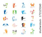 foot print icons set   isolated ... | Shutterstock .eps vector #172125260